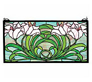 Tiffany Style Calla Lily Window Panel - H131430