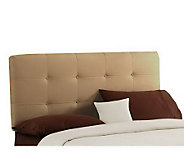 Skyline Furniture Tufted Ultrasuede Botton King Headboard - H135230
