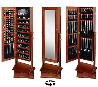 Gold Amp Silver Safekeeper Double Sided Jewelry Armoire By
