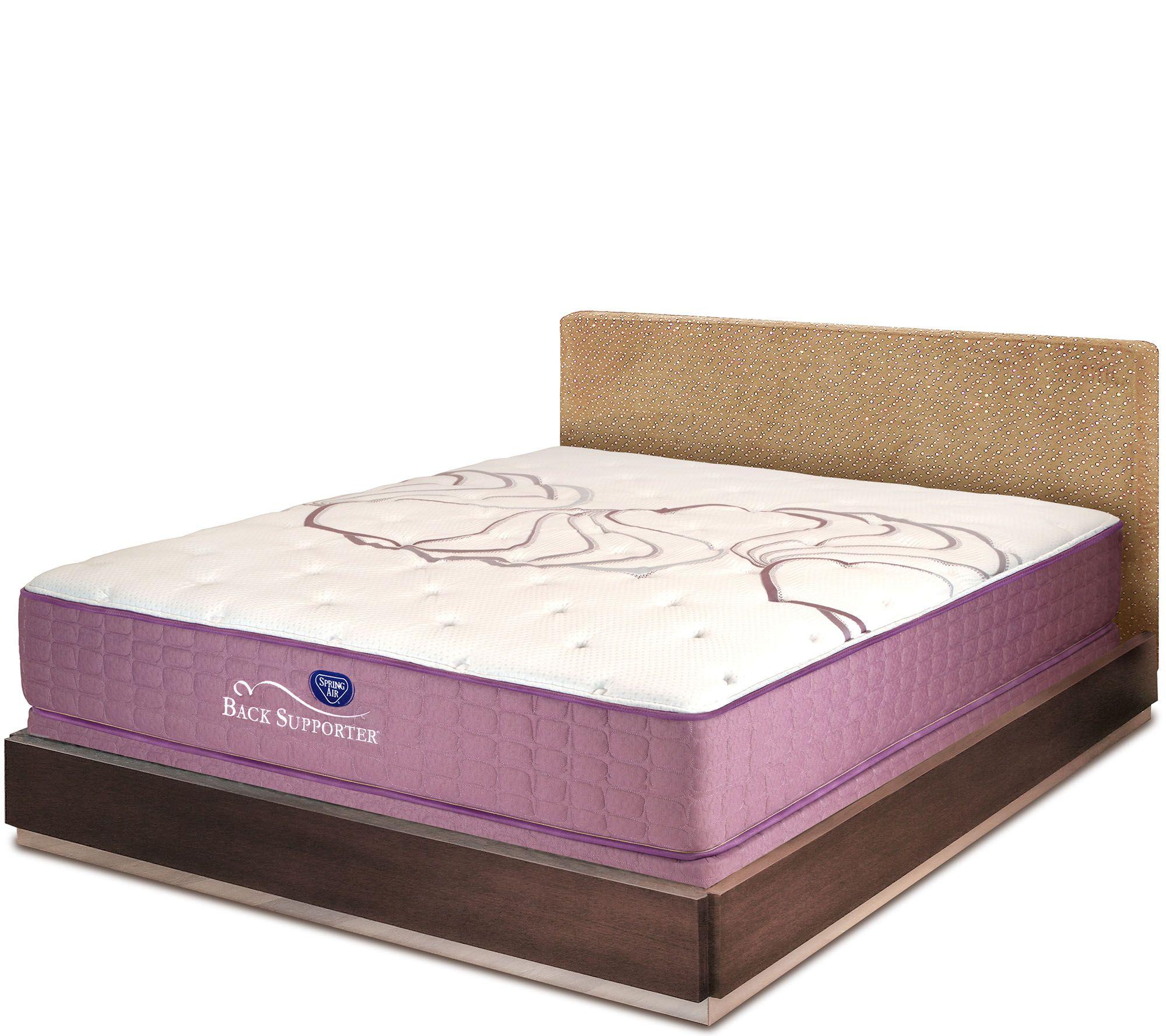 Spring air sleep sense 13 plush queen mattress set for Spring air mattress