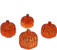 As Is Set of 4 Illuminated Mercury Glass Harvest Accents by Valerie - H207630