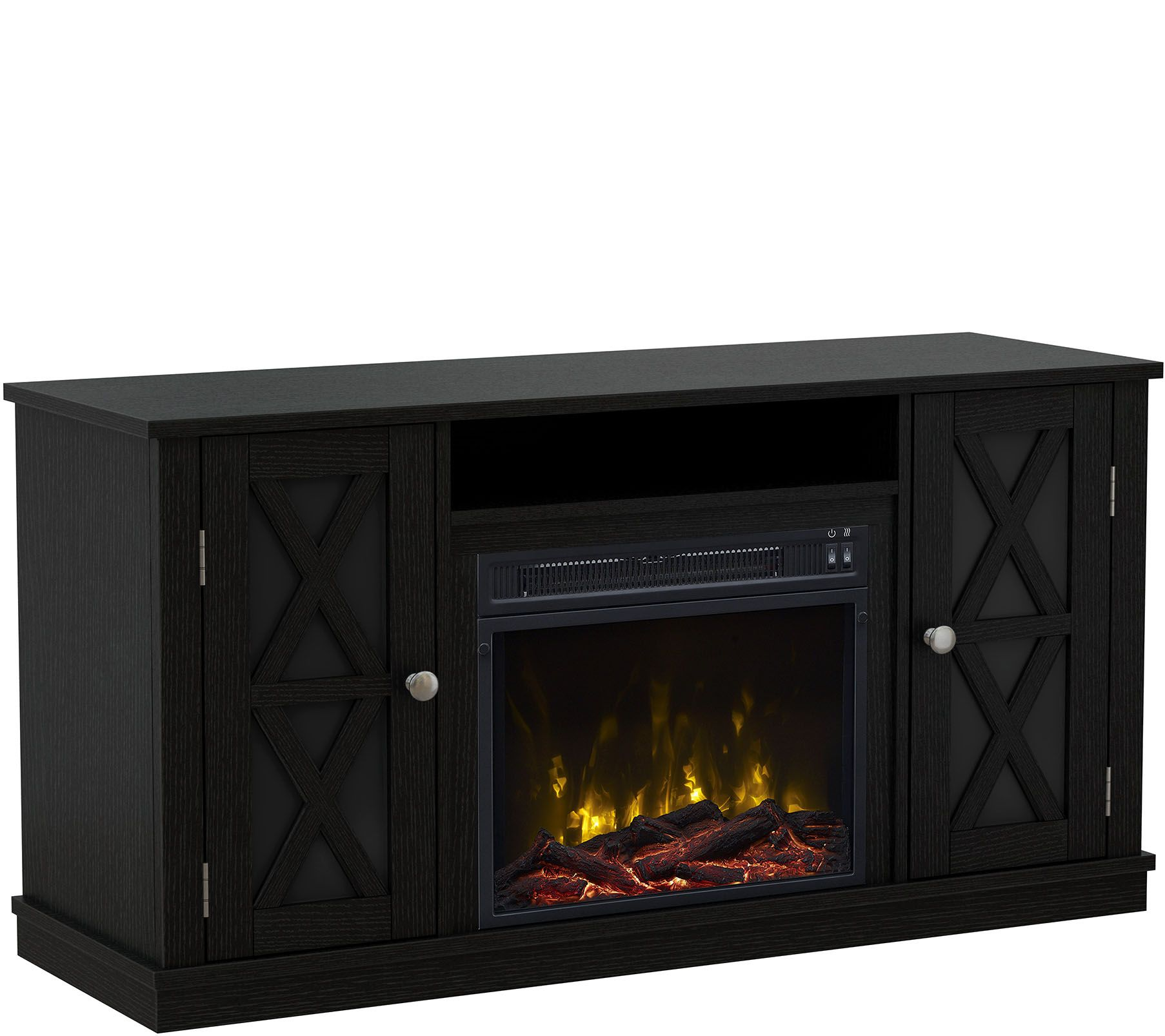 classicflame bayport fireplace tv stand for tvsup to 55. Black Bedroom Furniture Sets. Home Design Ideas