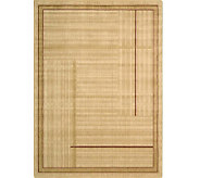 Nourison Atlas 79 x 1010 Lines Gold MachineMade Rug - H350330
