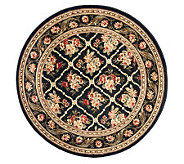 Lyndhurst Floral Lattice Power Loomed 53 x 53 Round Rug - H356830