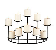 Ten Candle Metal Candelabra - H357130