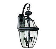 Quoizel Newbury Black Candelabra Outdoor Sconce - H139431