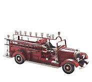 Copa Judaica Old-Time Fire Wagon Menorah - H157531