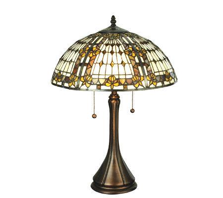 Tiffany Style Fleur De Lis Table Lamp QVC