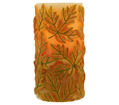 "Candle Impressions 6"" Autumn Leaf Flameless Candle w/ Timer"