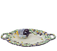 Temp-tations Figural Floral Platter and Dip Bowl - H204431