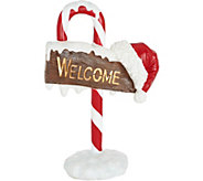 32 Illuminated Indoor/Outdoor Candy Cane Welcome Sign by Valerie - H208731