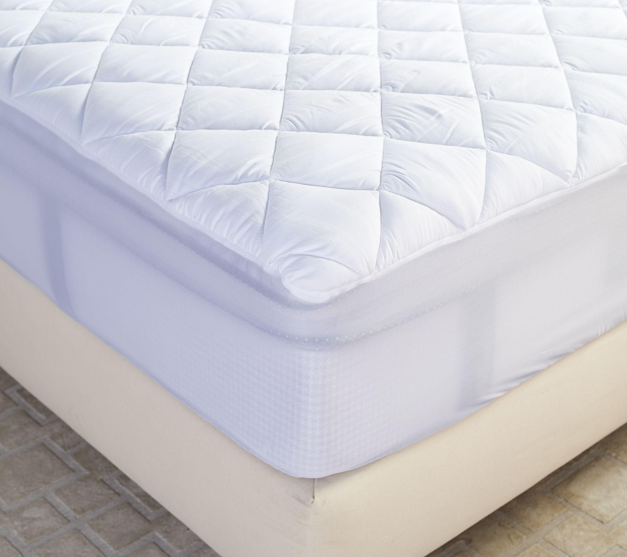 serta perfect sleeper full mattress pad with nanotex technology page 1 u2014 qvccom - Serta Mattress Topper