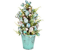 Foiled Egg Potted Cone Tree by Valerie - H210531