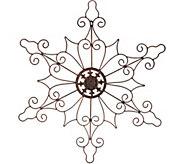 Plow & Hearth Indoor/Outdoor 32 Metal Snowflake Wall Decor - H211431