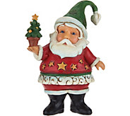 Jim Shore Heartwood Creek Mini Star Santa with Tree Figurine - H211931