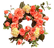 24 Peony and Tulip Wreath by Valerie - H283031