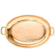 Old Dutch International Copper Oval Tray w/ Cast Brass Handles - H288131