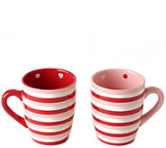 Temp-tations Set of 2 Hugs & Kisses Mugs - H288331