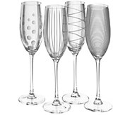 Mikasa Set of 4 Flutes - Cheers Collection - H289231
