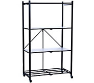Pop It 4-Tier Collapsible Storage Shelf withWheels & Liners - H293831