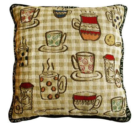 Qvc Decorative Pillows : Rustic Cafe 18