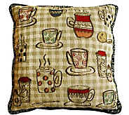 Rustic Cafe 18 x 18 Tapestry Decorative Pillow - H349331