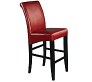30 Parsons Bar Stool in Red Faux Leather by Office Star - H349731