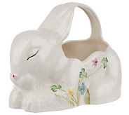Belleek Handpainted Bunny Shaped Basket - H07832