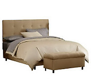 Skyline Furniture Ultrasuede Queen Headboard and Storage Benc - H187232