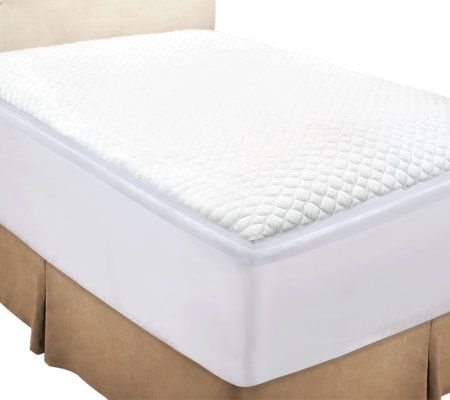 Rest Assure Full 2 Quot Gusset Mattress Topper With Skirt And