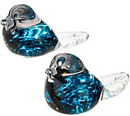 Irish Handmade Glass Company Set of Two Love Birds - H202132