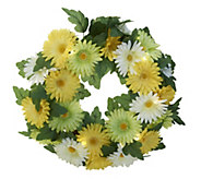 Bethlehem Lights Battery Op. 20 Daisy Wreath - H202432