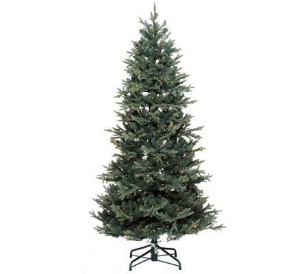 Lights 9 Blue Spruce Christmas Tree wInstant Power     QVCcom o5x4Jetw