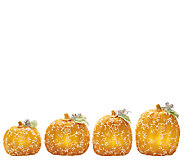 4 Piece Illuminated Wax Pumpkins by Valerie - H203732