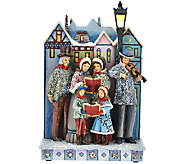 Jim Shore Masterpiece Musical Carolers with Lit Lamp Post - H206532