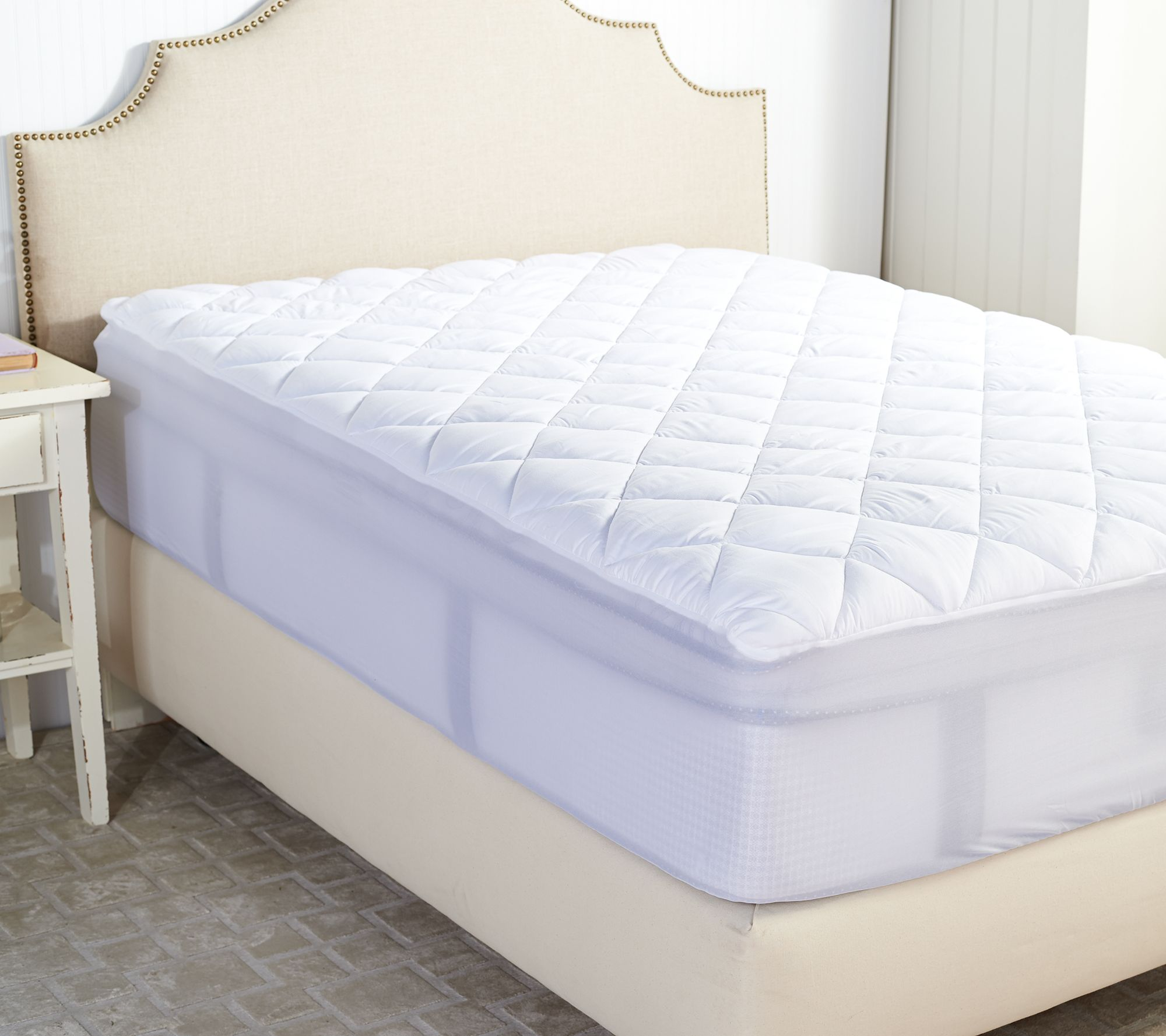 Serta Perfect Sleeper Queen Mattress Pad With Nanotex Technology Page 1 Qvc