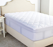 Serta Perfect Sleeper Queen Mattress Pad with Nanotex Technology - H208832