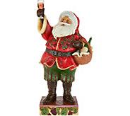 Jim Shore Heartwood Creek Holiday Wine Santa Figurine - H212232