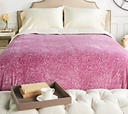 Casa Zeta-Jones Signature Rose Velvet Soft Full Blanket - H213832