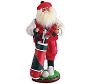 18 Golfer Santa by Santas Workshop - H289532