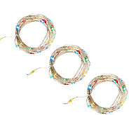 ED On Air Set of 3 Micro Light Strands by Ellen DeGeneres - H206733