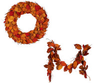 ED On-Air Dried Leaf Wreath or Garland by Ellen DeGeneres