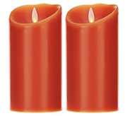 As Is Luminara Set of 2 4 Flameless Candle w/ Timer - H207633