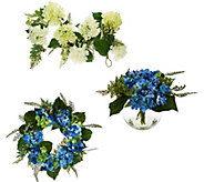 Hydrangea and Berry Floral Collection by Valerie - H207933