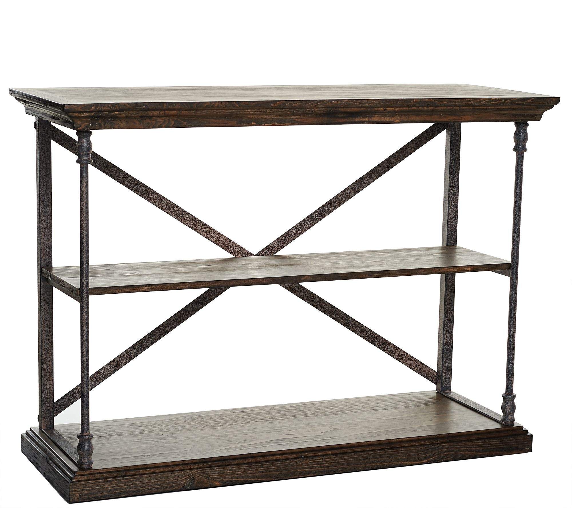 Home Reflections Rustic Open Shelf Console Table Page 1