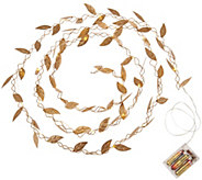 ED On Air Metal Leaf Micro Light Strand by Ellen DeGeneres - H209633