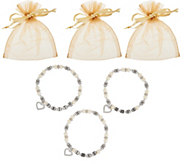 Set of 3 Faith, Hope and Love Bracelets in Gift Bags by Valerie - H210533