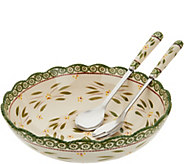 Temp-tations Old World Serving Bowl With Utensils - H212333