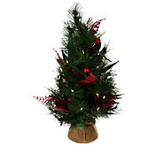 As Is ED On Air 24 Mixed Pine Tabletop Tree with Ornaments - H214033