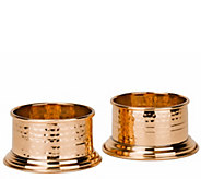 Old Dutch International Fez Solid Copper Wine Coasters - H288133